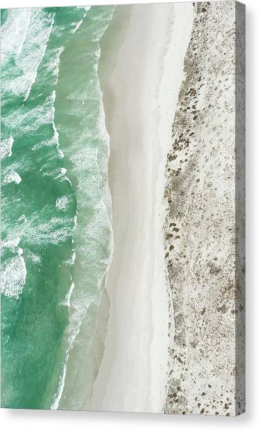 Aerial View Of The Sixteen Mile Beach Canvas Print by Peter Chadwick