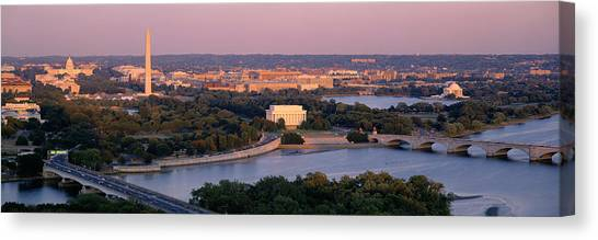 Washington Monument Canvas Print - Aerial, Washington Dc, District Of by Panoramic Images