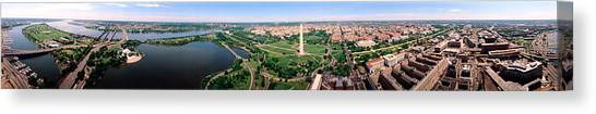 Jefferson Memorial Canvas Print - Aerial Washington Dc Usa by Panoramic Images