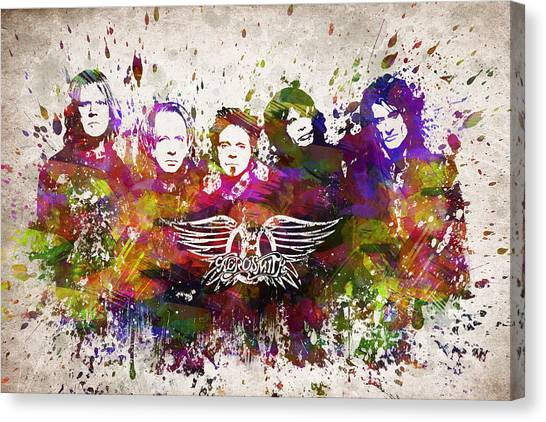 Aerosmith Canvas Print - Aerosmith In Color by Aged Pixel