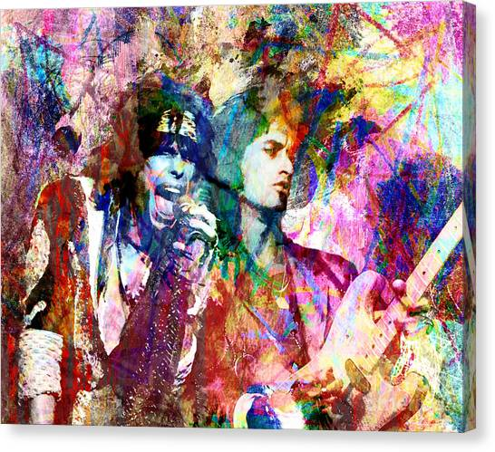 Aerosmith Canvas Print - Aerosmith Original Painting by Ryan Rock Artist