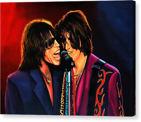 Aerosmith Canvas Print - Aerosmith Toxic Twins Painting by Paul Meijering