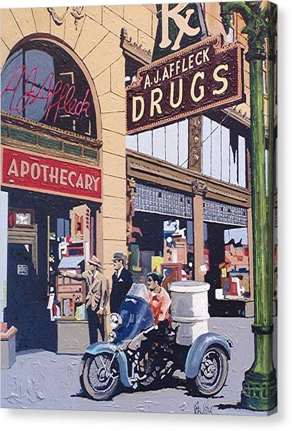Affleck's On Tenth Street Canvas Print by Paul Guyer