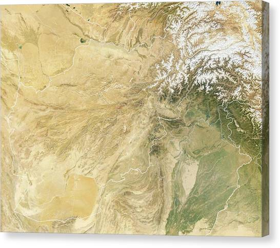 Nato Canvas Print - Afghanistan by Planetary Visions Ltd/science Photo Library
