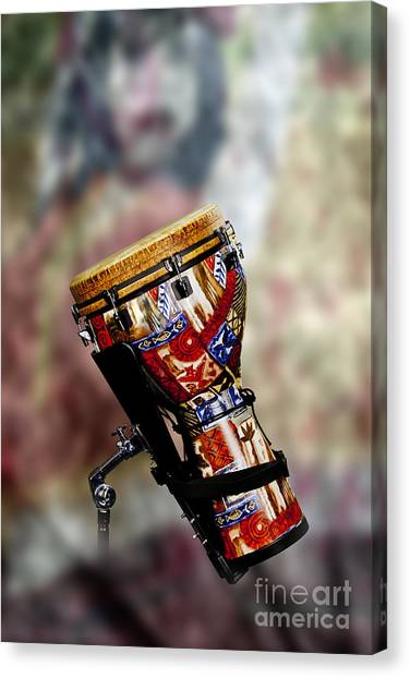 Djembe Canvas Print - Africa Culture Drum Djembe In Color 3236.02 by M K  Miller