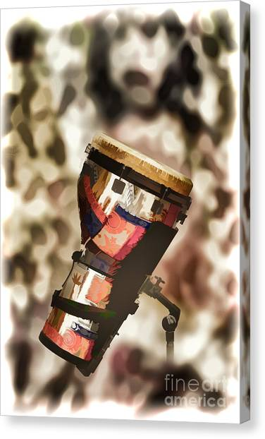 Djembe Canvas Print - Africa Culture Drum Djembe Painting In Color 3237.02 by M K  Miller