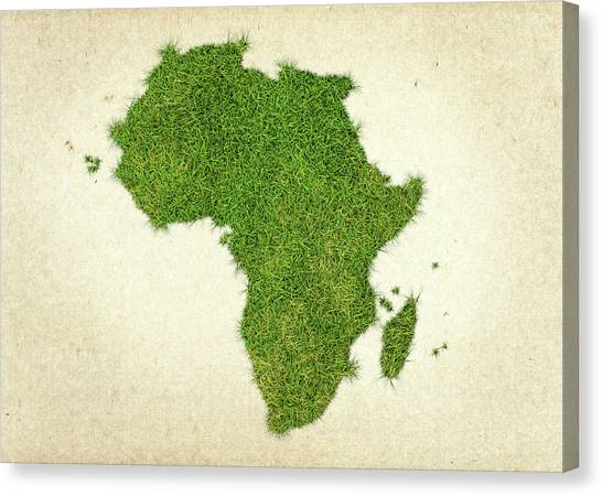 Democratic Canvas Print - Africa Grass Map by Aged Pixel