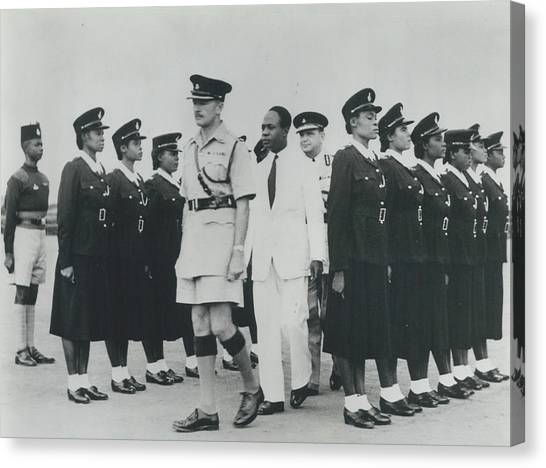 Africa Has Policewomen Canvas Print by Retro Images Archive