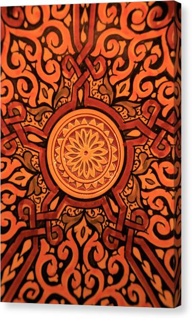 Ceramic Glazes Canvas Print - Africa, Morocco Hand-painted Glazed by Kymri Wilt