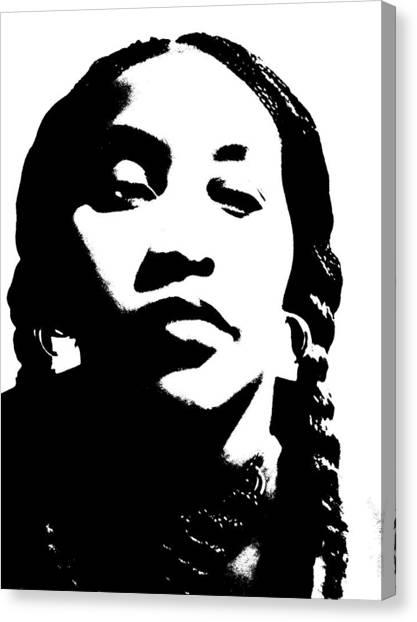 African American Girl P7292045 Canvas Print