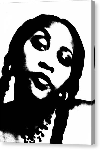 African American Girl P7292074 Canvas Print