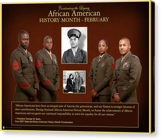 George W. Bush Canvas Print - African American History by Annette Redman