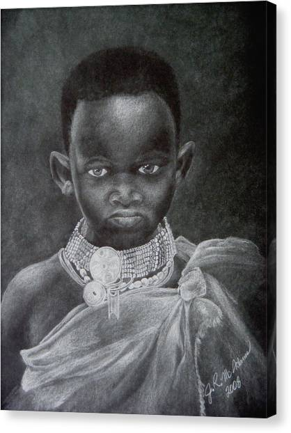 African Boy Canvas Print