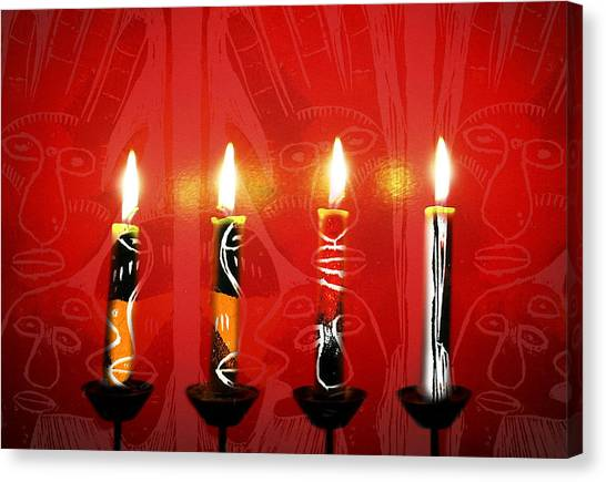 African Candles Canvas Print