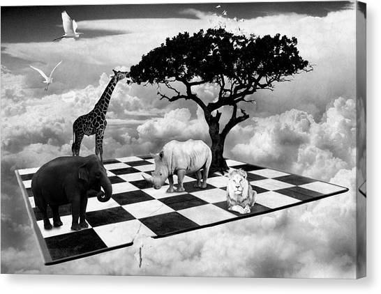 African Game Of Equality Canvas Print