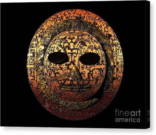 African Mask Series 1 Canvas Print