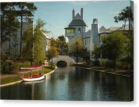 African Queen In Alys Beach Canal Canvas Print by Frank Feliciano