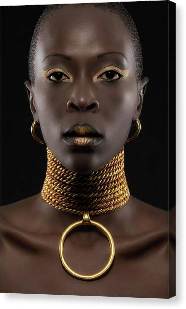 Necklace Canvas Print - African Queen by Maurice De Vries