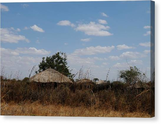 African Series Masai Hut Canvas Print by Katherine Green