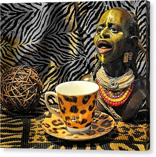 Leapords Canvas Print - African Tea Party by JAXINE Cummins