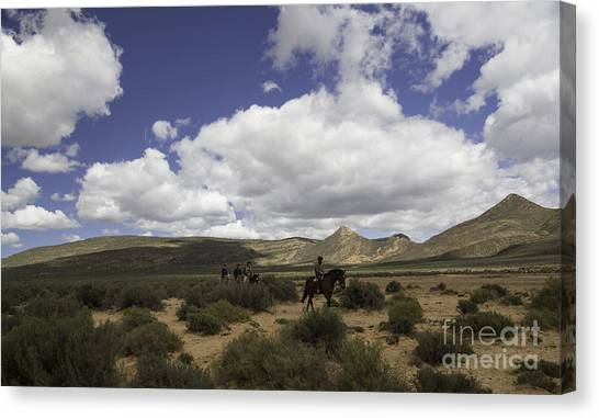 African Trail Ride Canvas Print