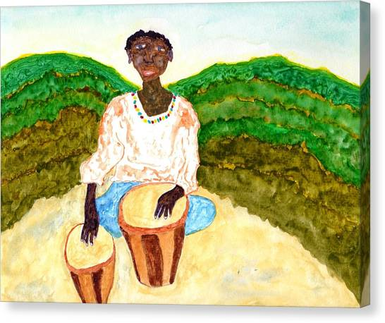 Djembe Canvas Print - Afro Beat by Jim Taylor