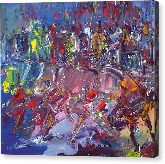 Afro-dance Canvas Print by Bob Usoroh