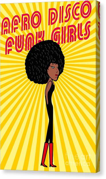 Happy Canvas Print - Afro Disco Girls by A1vector
