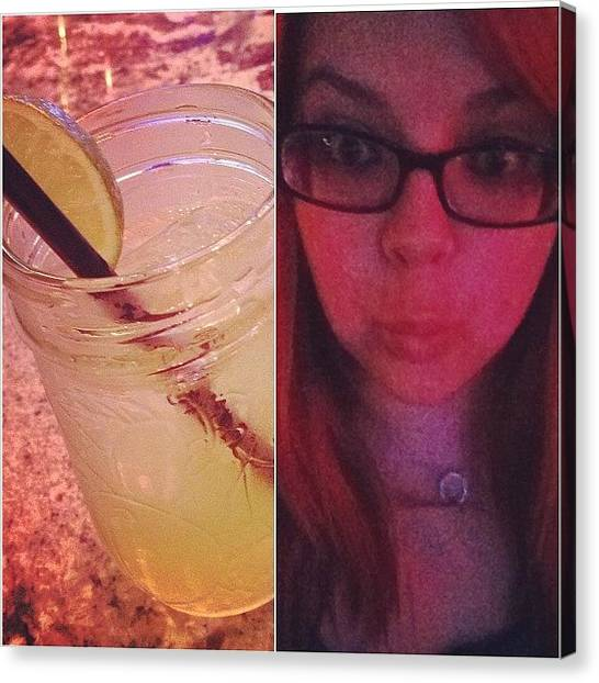 Whiskey Canvas Print - After 5 #whiskeysour And 4 Shots Of by Katrina A