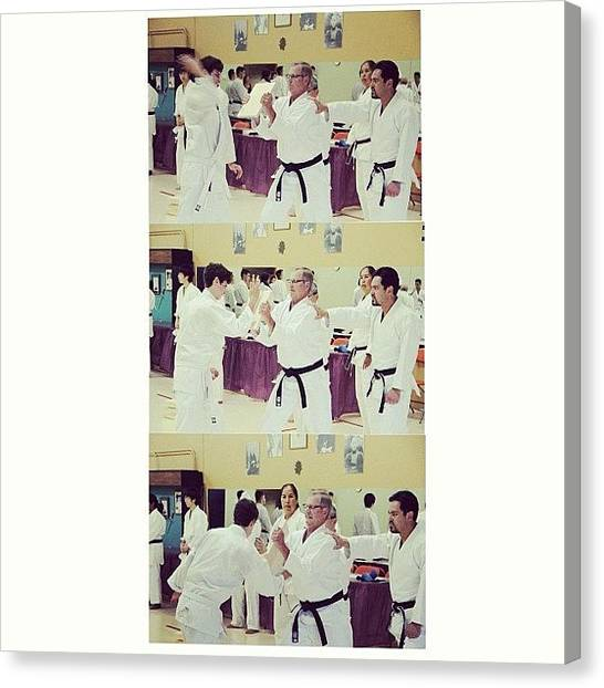 Karate Canvas Print - After A 3 Hour Grading And 11 Years Of by Vanessa Saccone