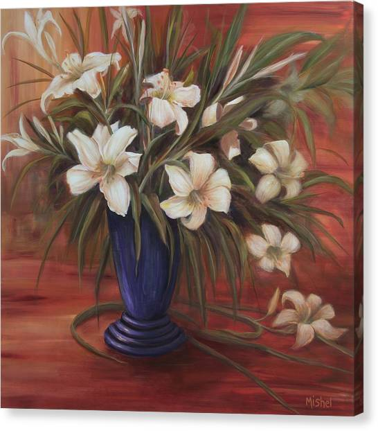 After Noon Lilies Canvas Print