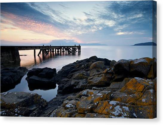 After Sun At Portencross Canvas Print