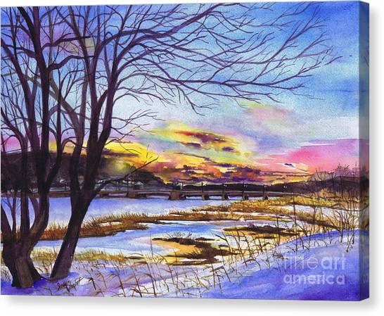 After The Blizzard Bayville Canvas Print