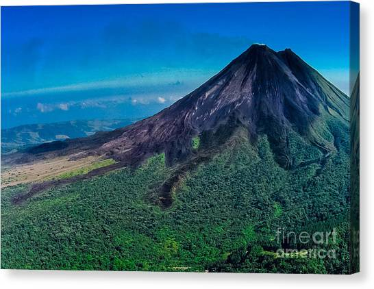 Arenal Volcano Canvas Print - After The  Dark Day by Gary Keesler