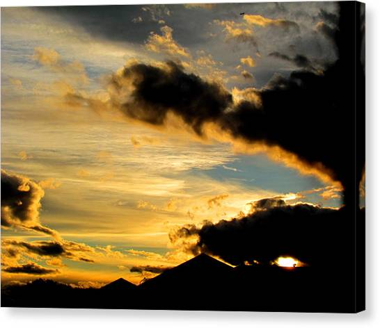 After The Rain Came The Sunset. Canvas Print by Joyce Woodhouse