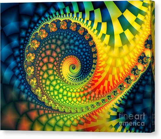After The Rain-fractal Art Canvas Print