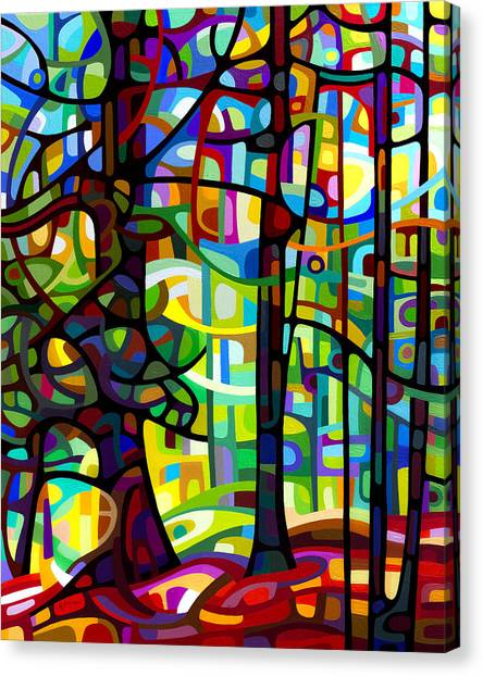 Abstract Art Canvas Print - After The Rain by Mandy Budan