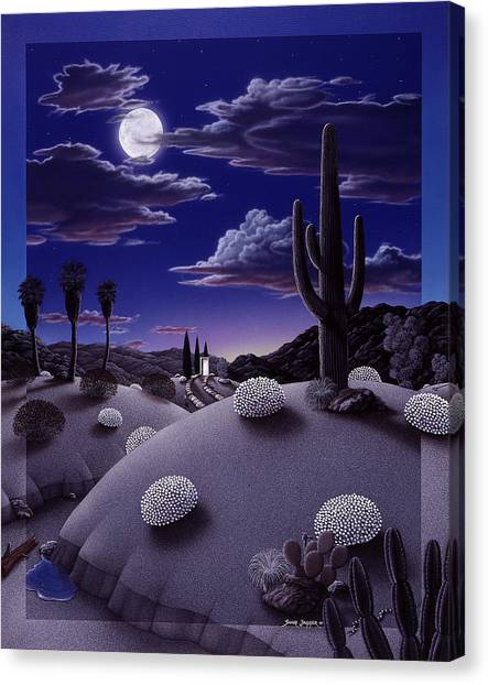 Cactus Canvas Print - After The Rain by Snake Jagger