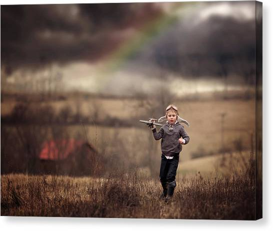 Aviators Canvas Print - After The Storm by Annie Whitehead