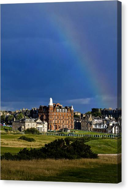 After The Storm At St. Andrews Golf Old Course Scotland Canvas Print