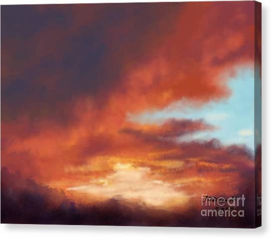 After The Storm Canvas Print by Judy Filarecki