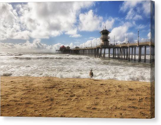 After Winter Storm At Pier Canvas Print