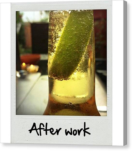 Limes Canvas Print - After Work Beer #beer #work #corona by Ray Henderson