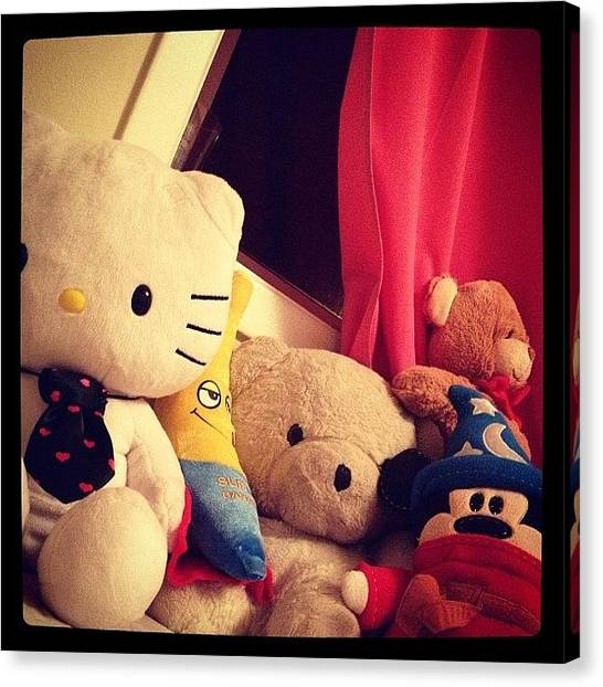 Teddy Bears Canvas Print - #afterdark Just Doing Some Tidying by Katrina A