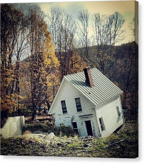 Vermont Canvas Print - Aftermath Of Irene by Rachel Waters