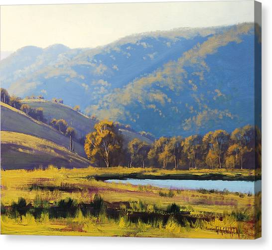 Homestead Canvas Print - Afternnon Light Lithgow by Graham Gercken