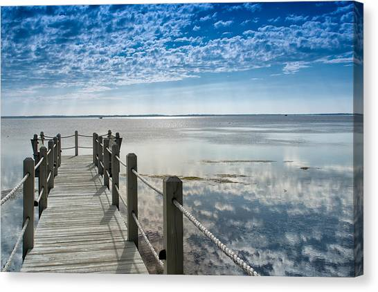 Afternoon At Currituck Sound Canvas Print