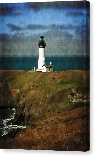 Afternoon At The Yaquina Head Lighthouse Canvas Print