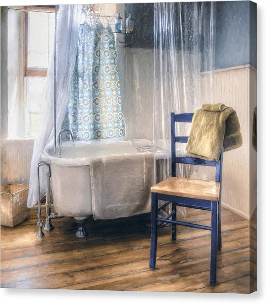 Breeze Canvas Print - Afternoon Bath by Scott Norris
