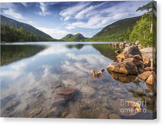 Jordan Pond Canvas Print - Afternoon By The Pond by Marco Crupi
